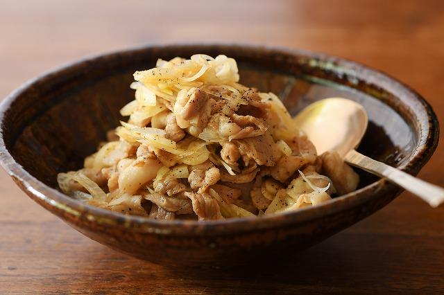 豚肉とらっきょうの炒め物