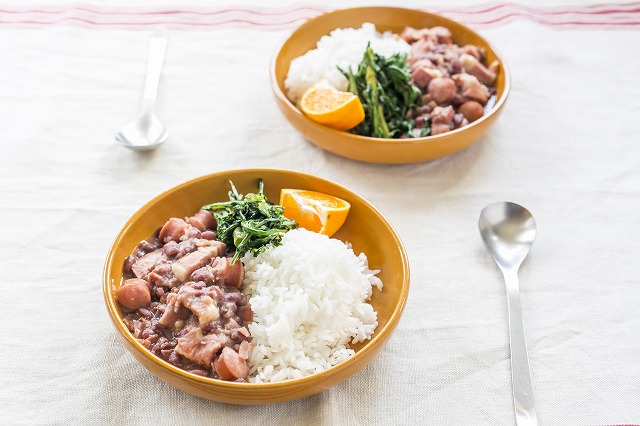 豚肉とあずきの煮物