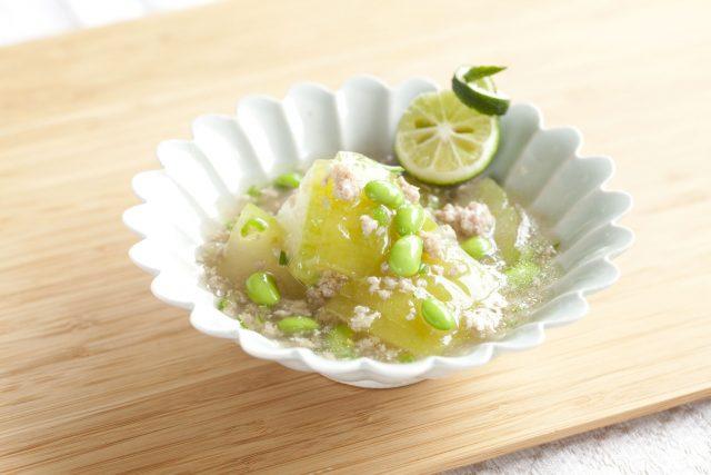 冬瓜と鶏そぼろの煮物