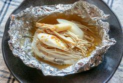 メカジキのガリバタホイル焼き